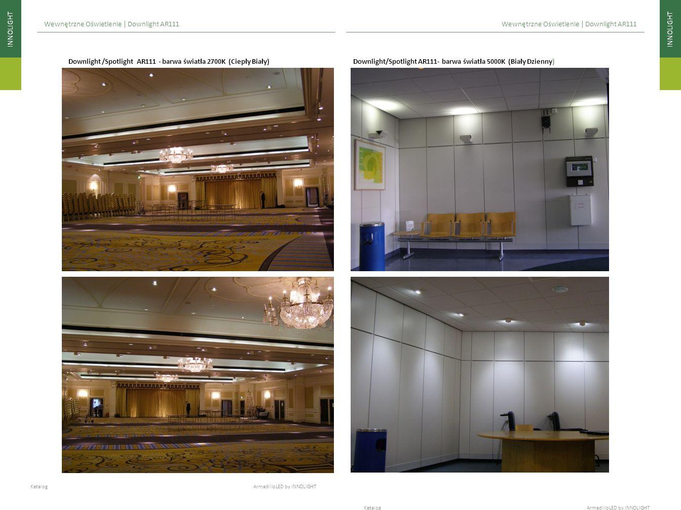 INNOLIGHT Katalog ArmadilloLED by INNOLIGHT Wewnętrzne Oświetlenie | Downlight AR111 Downlight /Spotlight AR111 - barwa światła 2700K (Ciepły Biały) D
