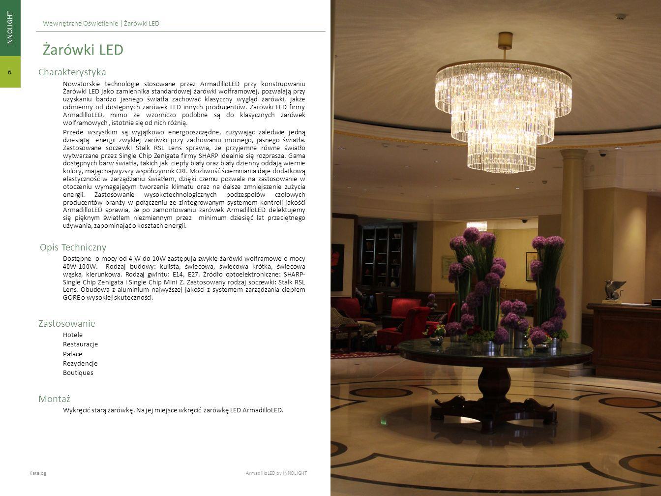 Charakterystyka Nowatorskie technologie stosowane przez ArmadilloLED przy konstruowaniu Żarówki LED jako zamiennika standardowej żarówki wolframowej,