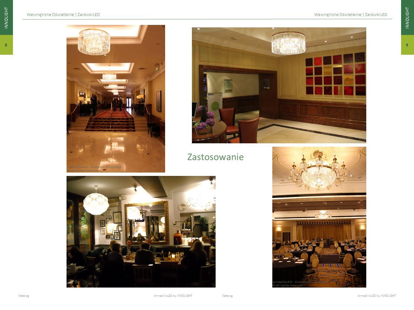 INNOLIGHT 9 8 Katalog ArmadilloLED by INNOLIGHT Wewnętrzne Oświetlenie | Żarówki LED Zastosowanie