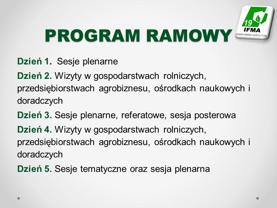 PROGRAM RAMOWY Dzień 1. Sesje plenarne Dzień 2.