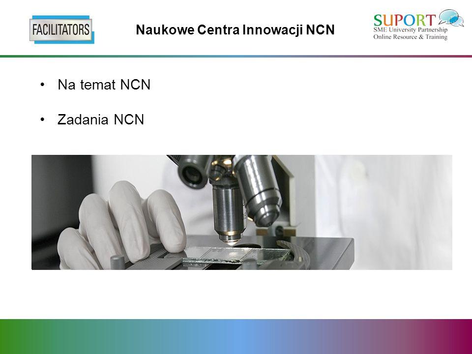 Na temat NCN Zadania NCN