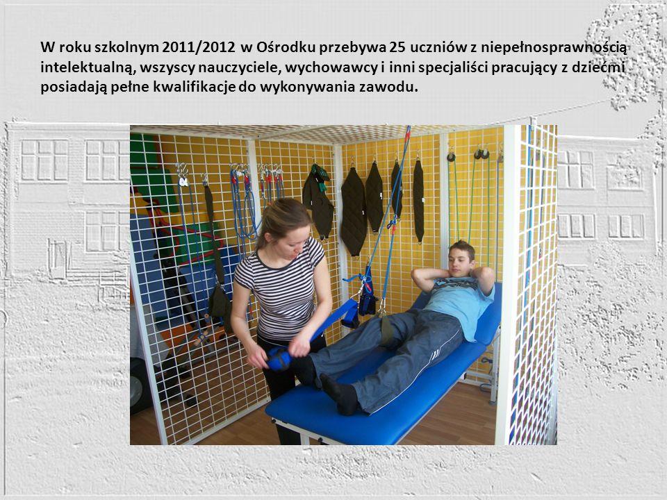 W roku szkolnym 2011/2012 w Ośrodku przebywa 25 uczniów z niepełnosprawnością intelektualną, wszyscy nauczyciele, wychowawcy i inni specjaliści pracuj