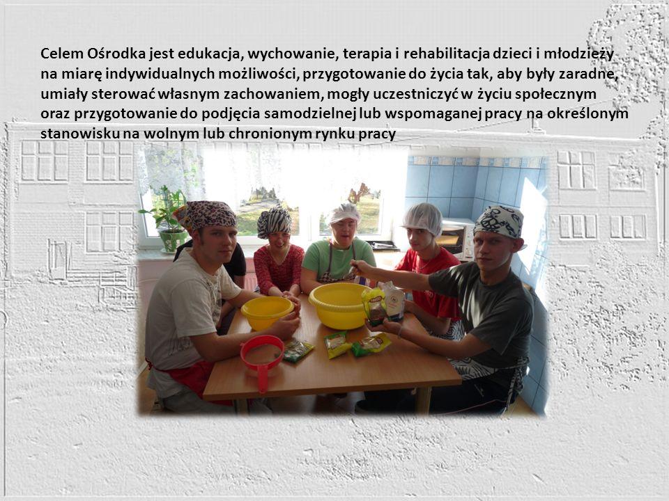 Celem Ośrodka jest edukacja, wychowanie, terapia i rehabilitacja dzieci i młodzieży na miarę indywidualnych możliwości, przygotowanie do życia tak, ab