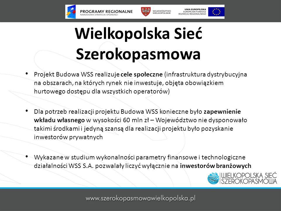 Wielkopolska Sieć Szerokopasmowa Projekt Budowa WSS realizuje cele społeczne (infrastruktura dystrybucyjna na obszarach, na których rynek nie inwestuj