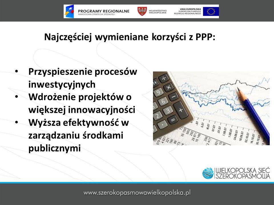 Przyspieszenie procesów inwestycyjnych Wdrożenie projektów o większej innowacyjności Wyższa efektywność w zarządzaniu środkami publicznymi