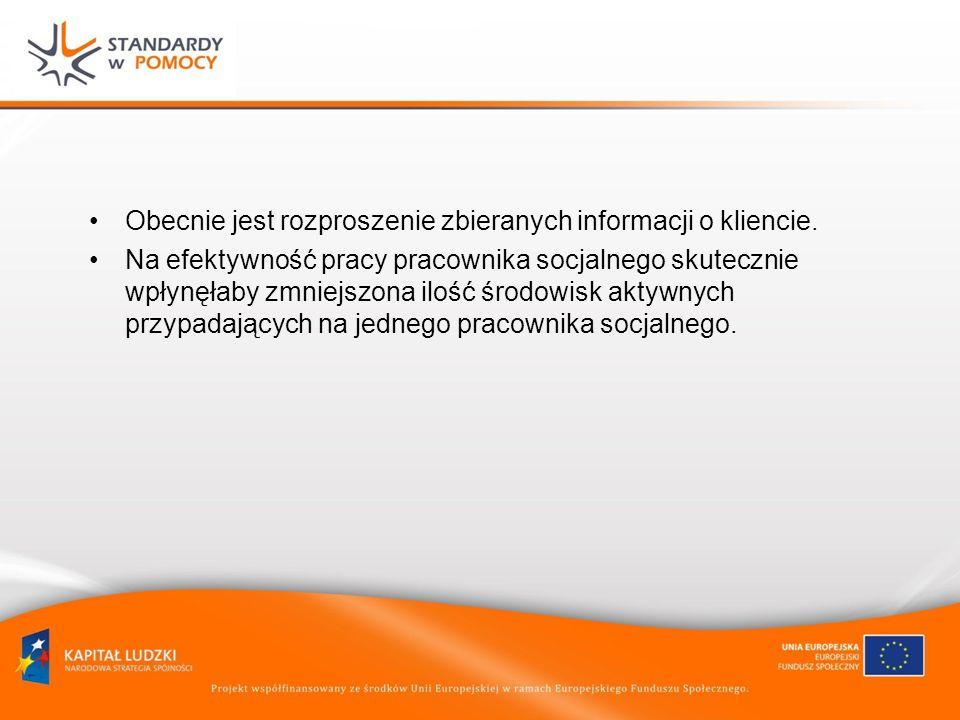 Obecnie jest rozproszenie zbieranych informacji o kliencie.