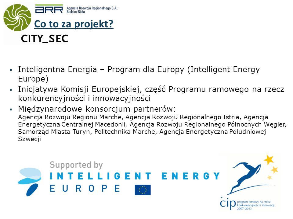 Inteligentna Energia – Program dla Europy (Intelligent Energy Europe) Inicjatywa Komisji Europejskiej, część Programu ramowego na rzecz konkurencyjności i innowacyjności Międzynarodowe konsorcjum partnerów: Agencja Rozwoju Regionu Marche, Agencja Rozwoju Regionalnego Istria, Agencja Energetyczna Centralnej Macedonii, Agencja Rozwoju Regionalnego Północnych Węgier, Samorząd Miasta Turyn, Politechnika Marche, Agencja Energetyczna Południowej Szwecji Co to za projekt