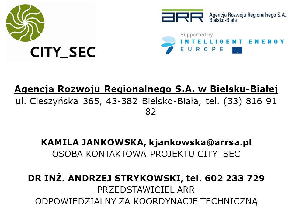 Agencja Rozwoju Regionalnego S.A. w Bielsku-Białej ul.