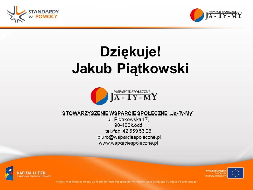 Dziękuje! Jakub Piątkowski