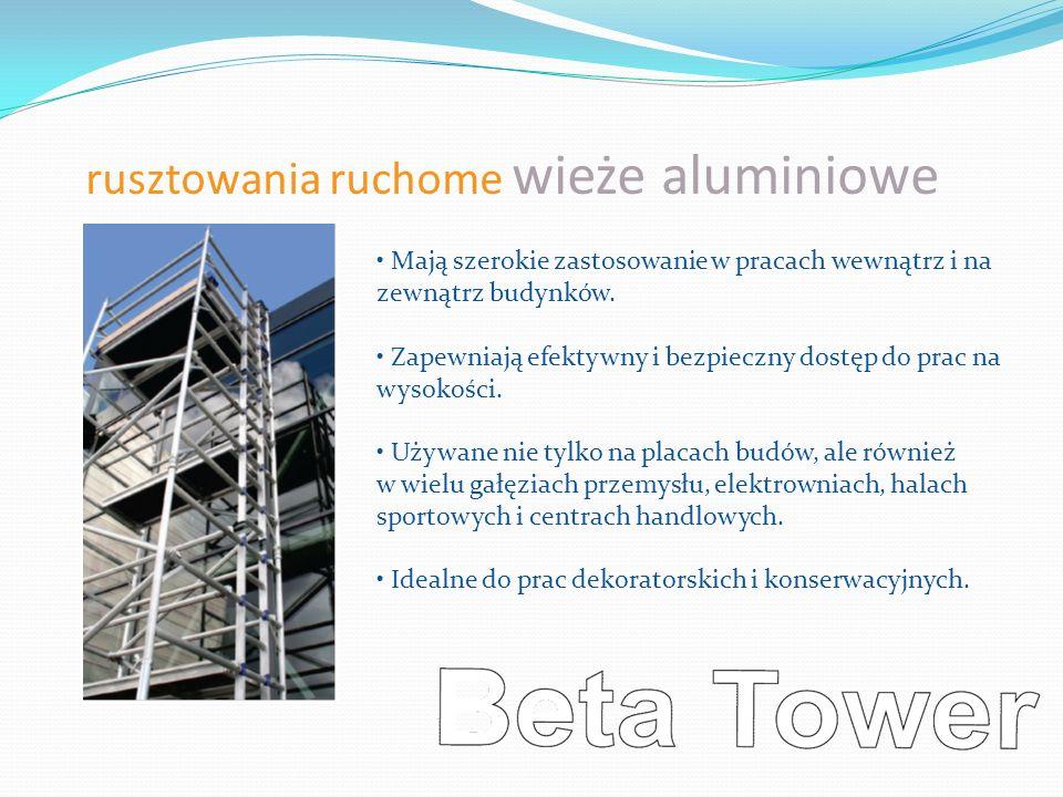 rusztowania ruchome wieże aluminiowe Mają szerokie zastosowanie w pracach wewnątrz i na zewnątrz budynków. Zapewniają efektywny i bezpieczny dostęp do