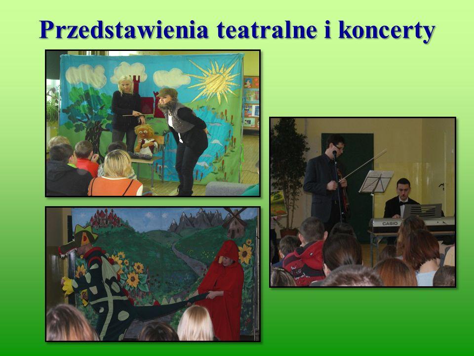 Przedstawienia teatralne i koncerty