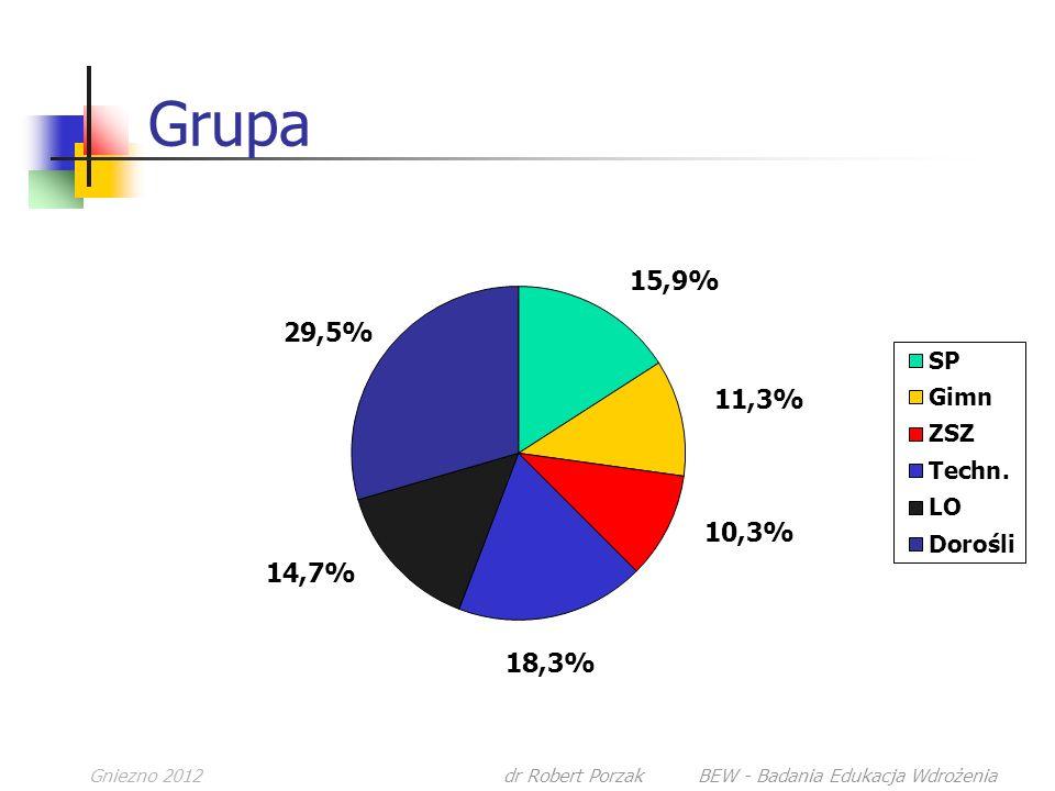 Gniezno 2012dr Robert Porzak BEW - Badania Edukacja Wdrożenia Grupa