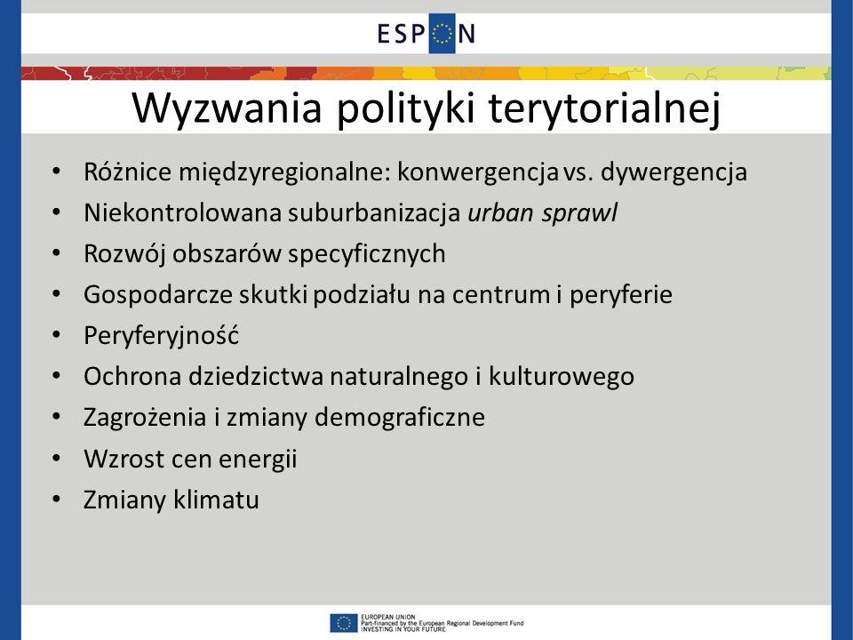 Wyzwania polityki terytorialnej Różnice międzyregionalne: konwergencja vs.