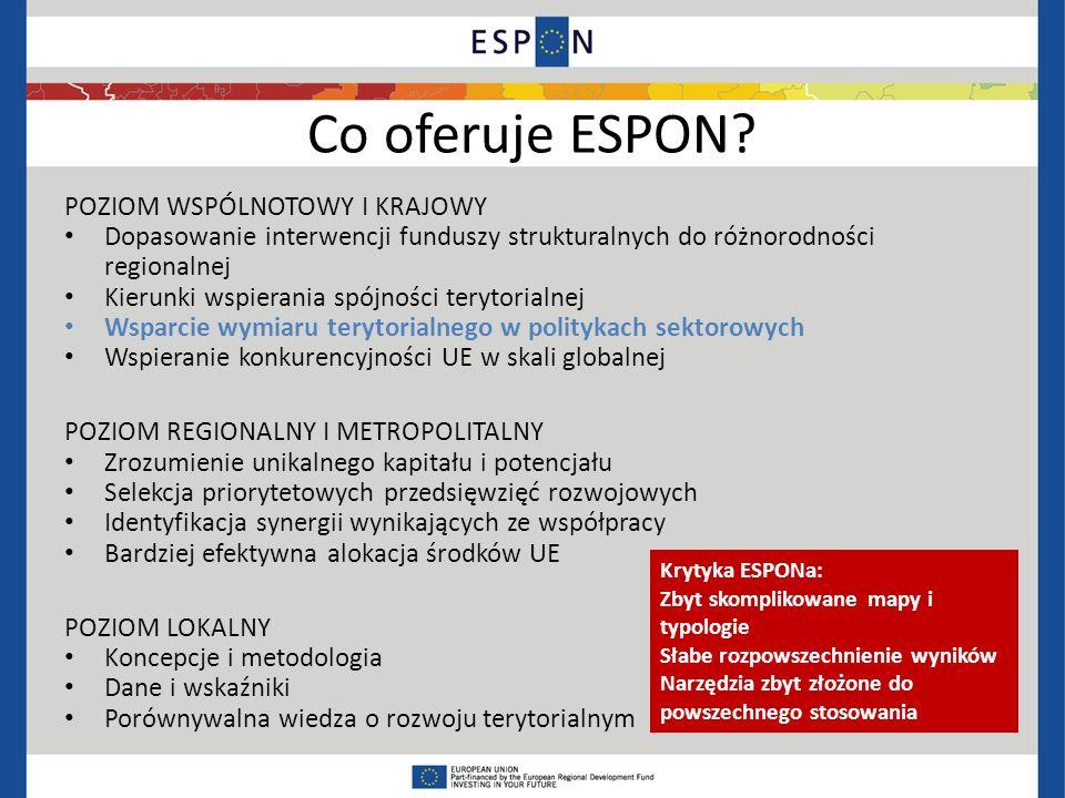 Co oferuje ESPON.