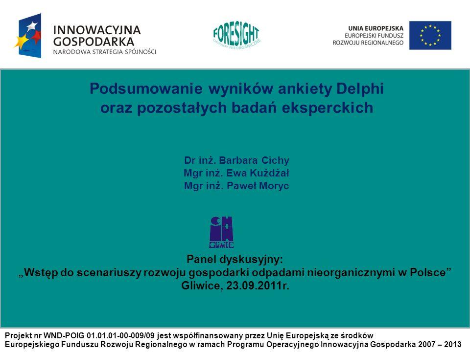Projekt nr WND-POIG 01.01.01-00-009/09 jest współfinansowany przez Unię Europejską ze środków Europejskiego Funduszu Rozwoju Regionalnego w ramach Pro