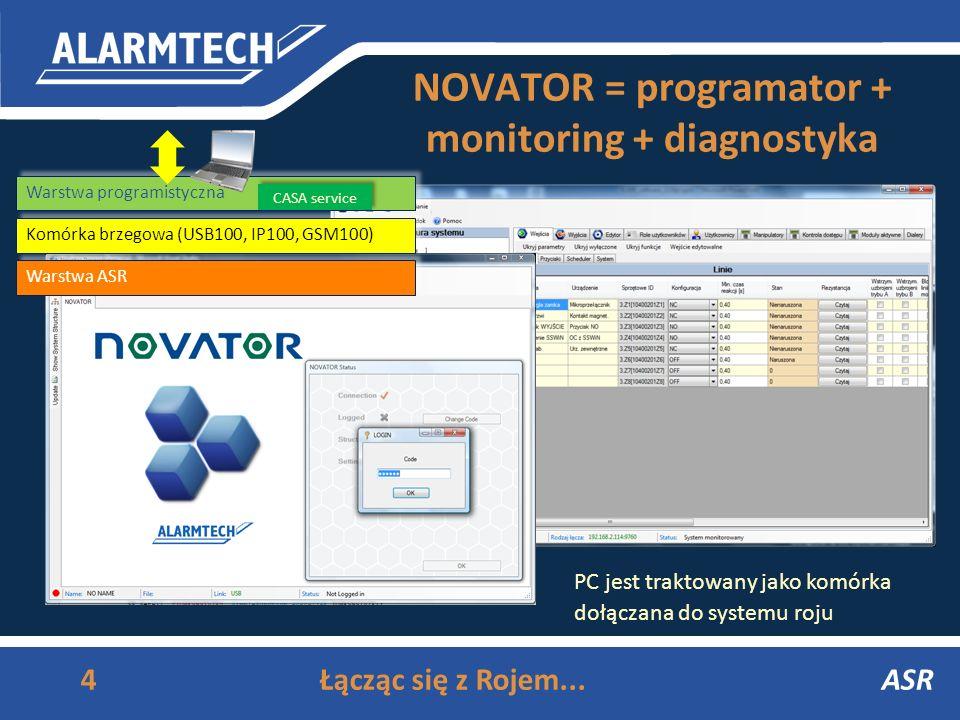 NOVATOR = programator + monitoring + diagnostyka ASR4Łącząc się z Rojem...