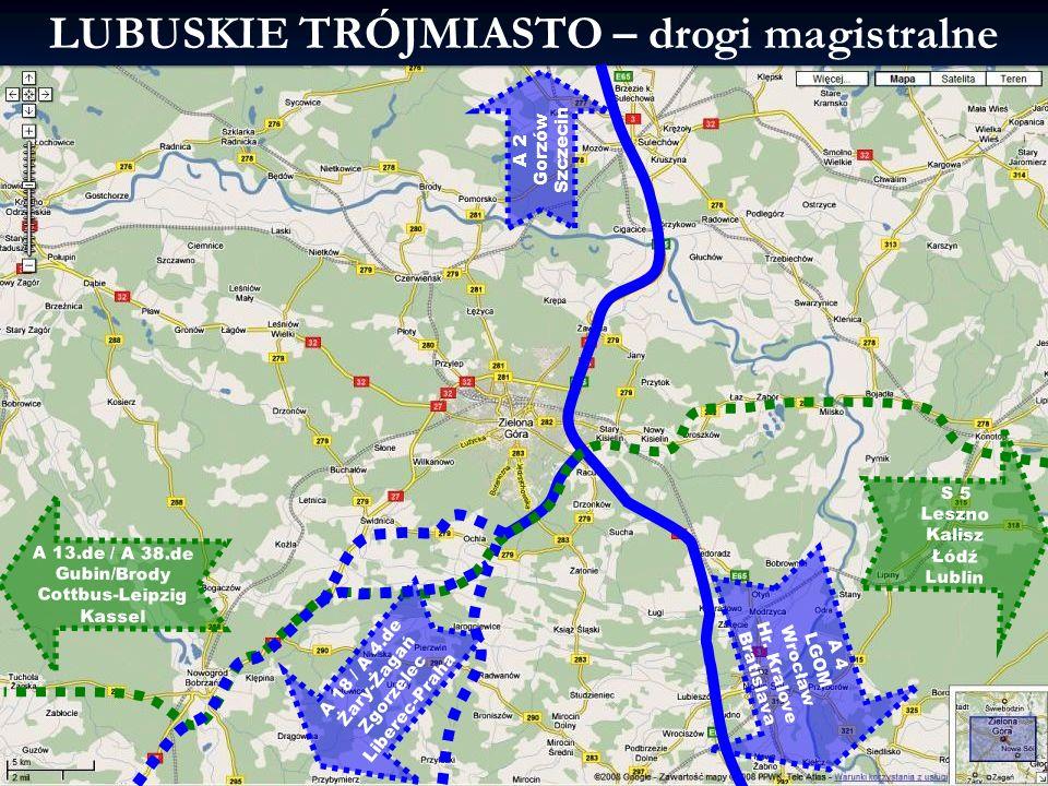 2014-01-21 13:03 9L3M -Infrastruktura komunikacyjna LUBUSKIE TRÓJMIASTO – drogi magistralne A 18 / A 4.de Żary-Żagań Zgorzelec Liberec-Praha A 13.de /
