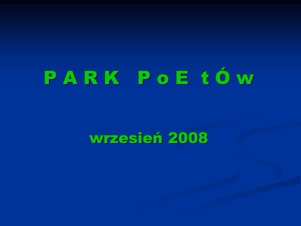 Inauguracja Wykład dr Reda TV Lodówka Sofy Tapczan Szyba Sofa Lodówka Listwy PARK POETÓW Rekonstrukcja przebiegu projektu 04 października 2008 Dywan Gr 2 Stru myk JL + BT Gr 3 ul.