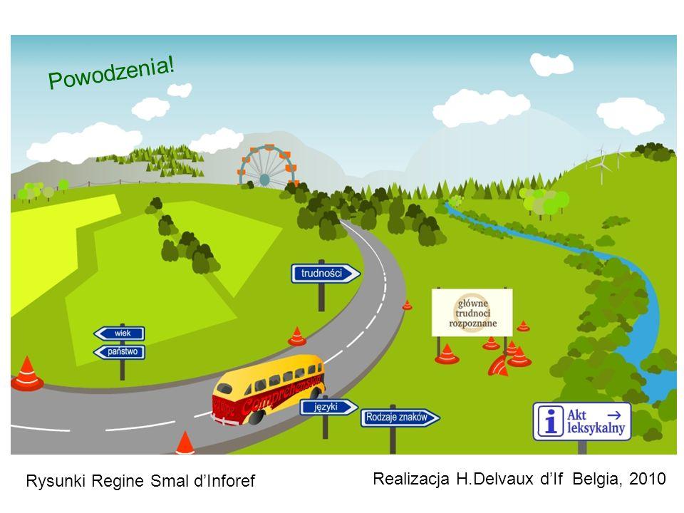 Realizacja H.Delvaux dIf Belgia, 2010 Powodzenia! Rysunki Regine Smal dInforef
