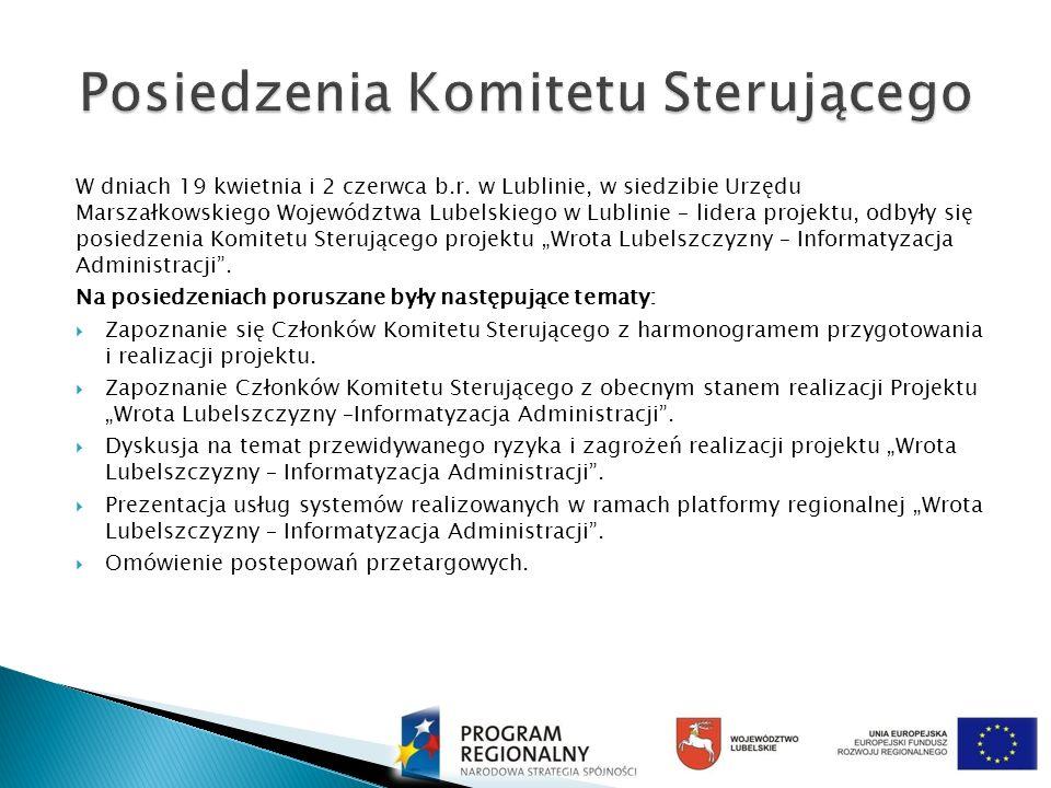 W dniach 19 kwietnia i 2 czerwca b.r. w Lublinie, w siedzibie Urzędu Marszałkowskiego Województwa Lubelskiego w Lublinie – lidera projektu, odbyły się
