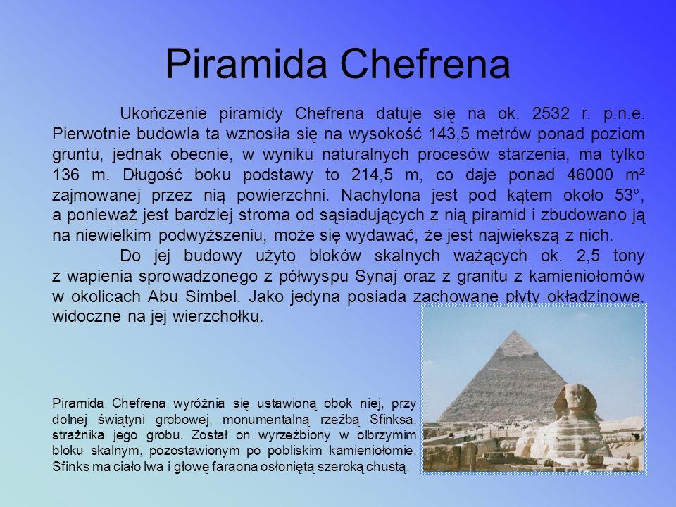 Zespół piramid w Gizie to trzy największe piramidy zbudowane w starożytnym Egipcie. Wszystkie mają kształt ostrosłupa na podstawie kwadratu. Największ