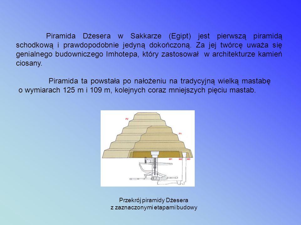 Piramida Dżesera powstała w XXVI wieku p.n.e. Ta monumentalna budowla kamienna stanowi część kompleksu grobowego, złożonego z samej piramidy, umieszcz