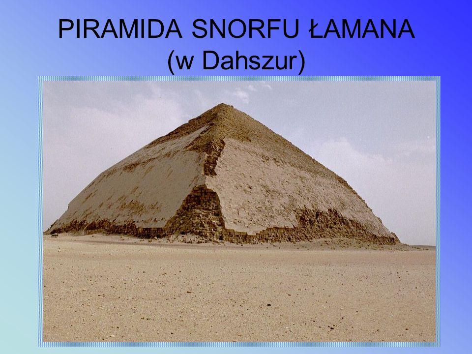 Piramida Dżesera w Sakkarze (Egipt) jest pierwszą piramidą schodkową i prawdopodobnie jedyną dokończoną.
