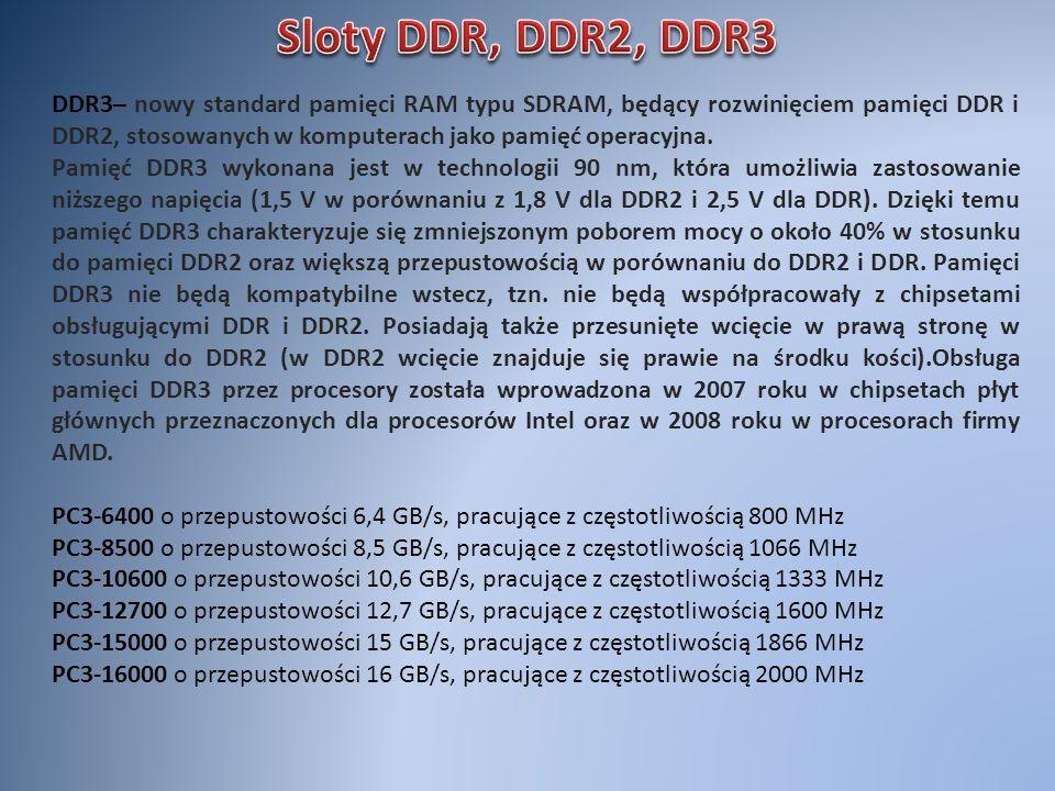 DDR3– nowy standard pamięci RAM typu SDRAM, będący rozwinięciem pamięci DDR i DDR2, stosowanych w komputerach jako pamięć operacyjna. Pamięć DDR3 wyko