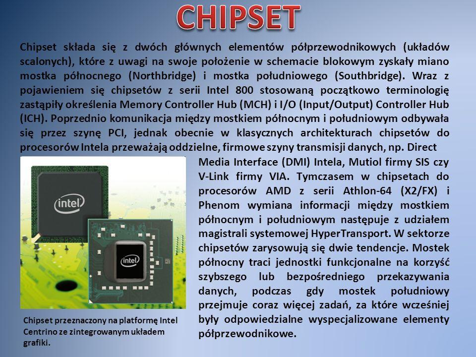 Chipset przeznaczony na platformę Intel Centrino ze zintegrowanym układem grafiki. Chipset składa się z dwóch głównych elementów półprzewodnikowych (u