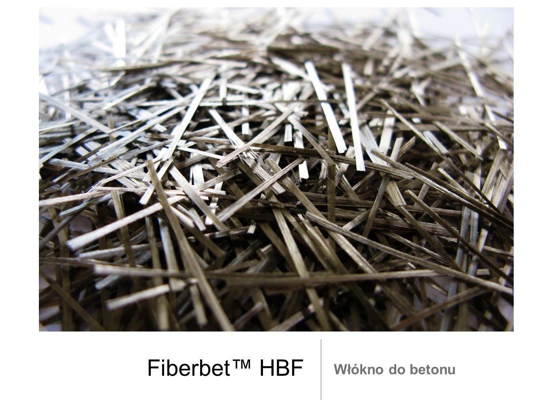 Włókno do rozproszonego zbrojenia betonu, zapraw i zaczynów Bazaltowo - polimerowe włókno marki Fiberbet HBF H= high B= basalt F= fiber Włókno bazaltowe jest wyrobem naturalnym - mineralnym, powstającym w wyniku przetopienia lawy wulkanicznej w formie kruszywa bazaltowego.