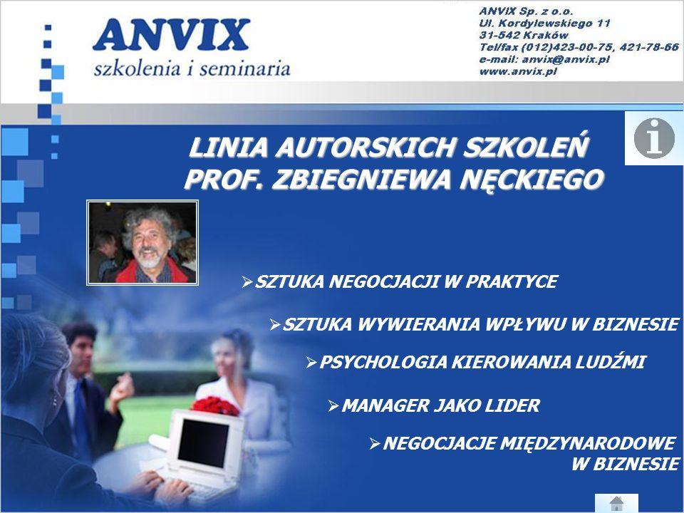 LINIA AUTORSKICH SZKOLEŃ PROF.