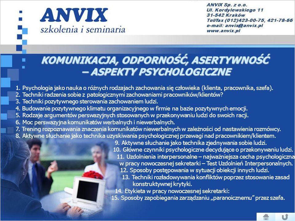 KOMUNIKACJA, ODPORNOŚĆ, ASERTYWNOŚĆ – ASPEKTY PSYCHOLOGICZNE 1.
