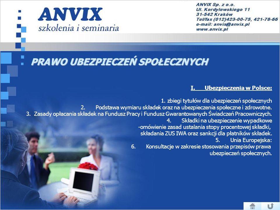 PRAWO UBEZPIECZEŃ SPOŁECZNYCH I.Ubezpieczenia w Polsce: 1.