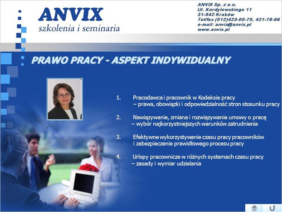 PRAWO PRACY - ASPEKT INDYWIDUALNY 1.