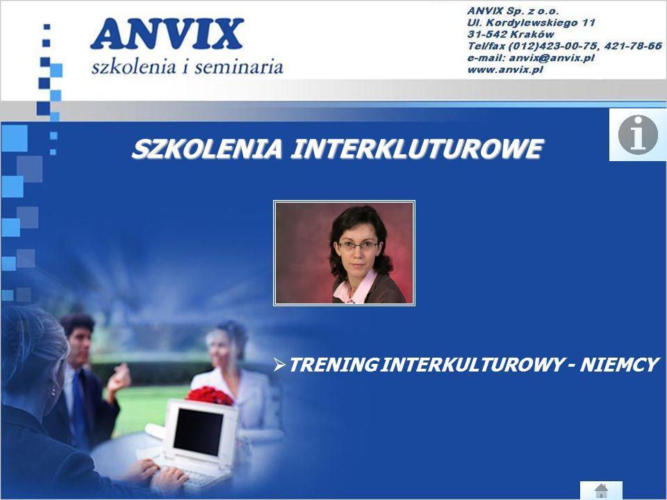 SZKOLENIA INTERKLUTUROWE TRENING INTERKULTUROWY - NIEMCY