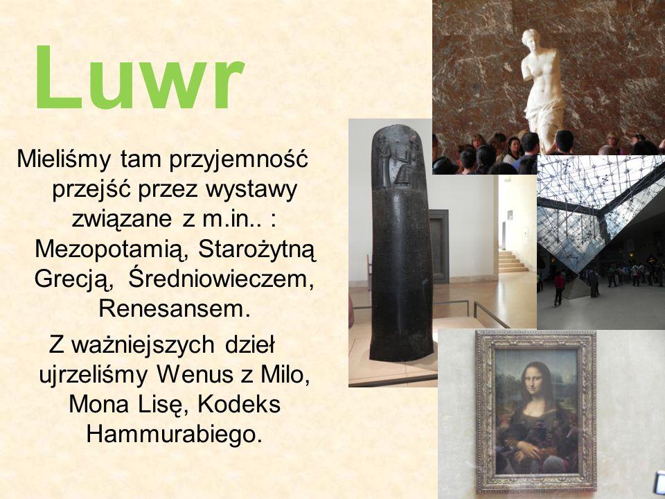 Mieliśmy tam przyjemność przejść przez wystawy związane z m.in.. : Mezopotamią, Starożytną Grecją, Średniowieczem, Renesansem. Z ważniejszych dzieł uj