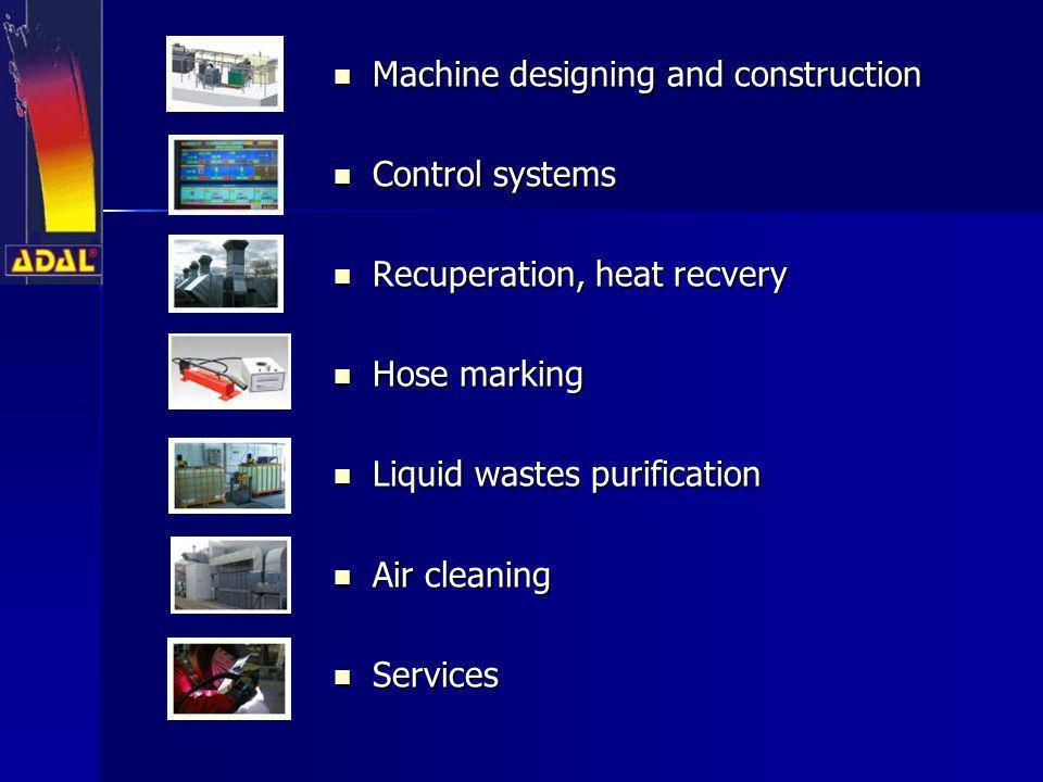 Machine designing and construction Machine designing and construction Control systems Control systems Recuperation, heat recvery Recuperation, heat re