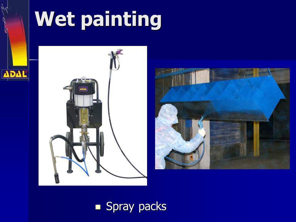 Wet painting Spray packs Spray packs