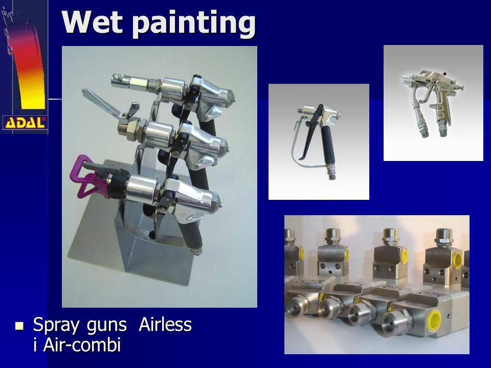 Wet painting Spray guns Airless i Air-combi Spray guns Airless i Air-combi