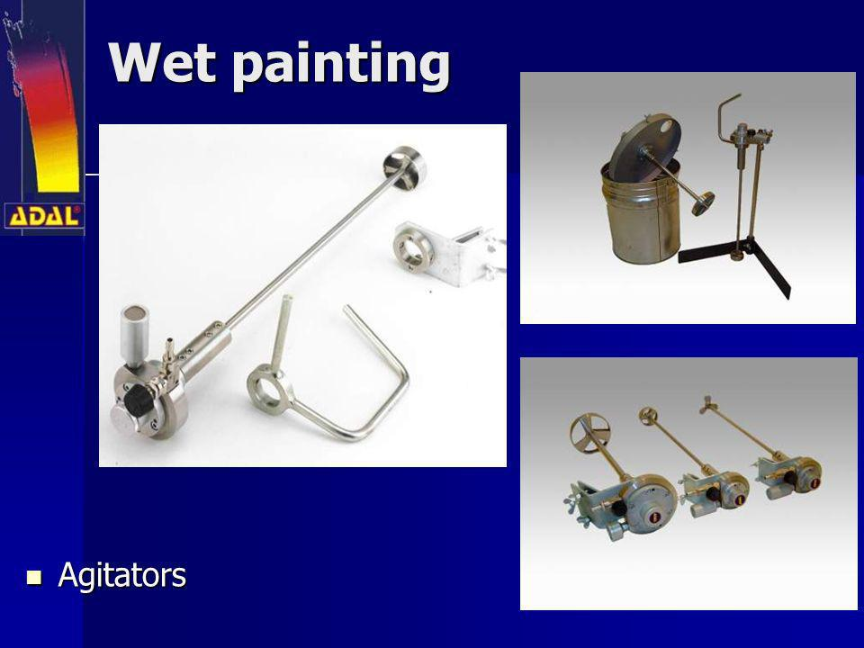 Wet painting Agitators Agitators