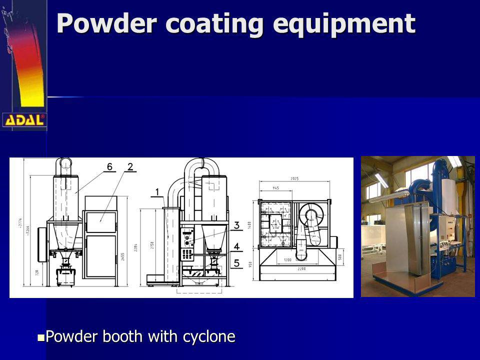 Powder coating equipment Powder booth with cyclone Powder booth with cyclone