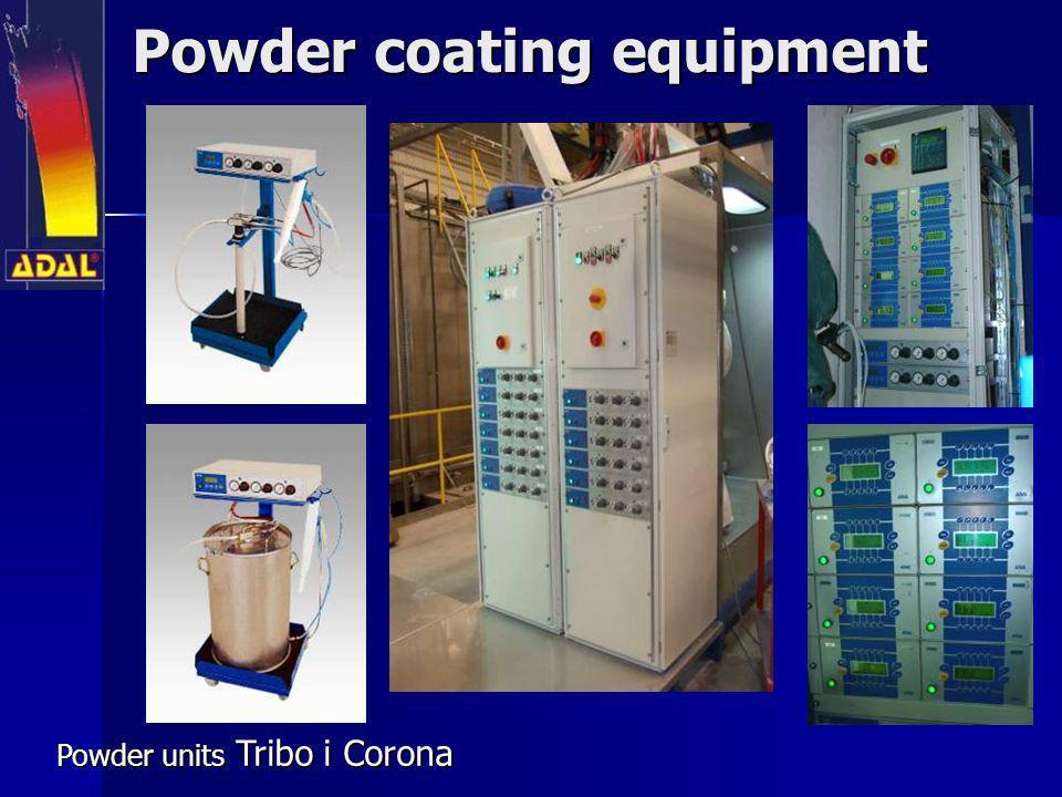 Powder coating equipment Powder units Tribo i Corona