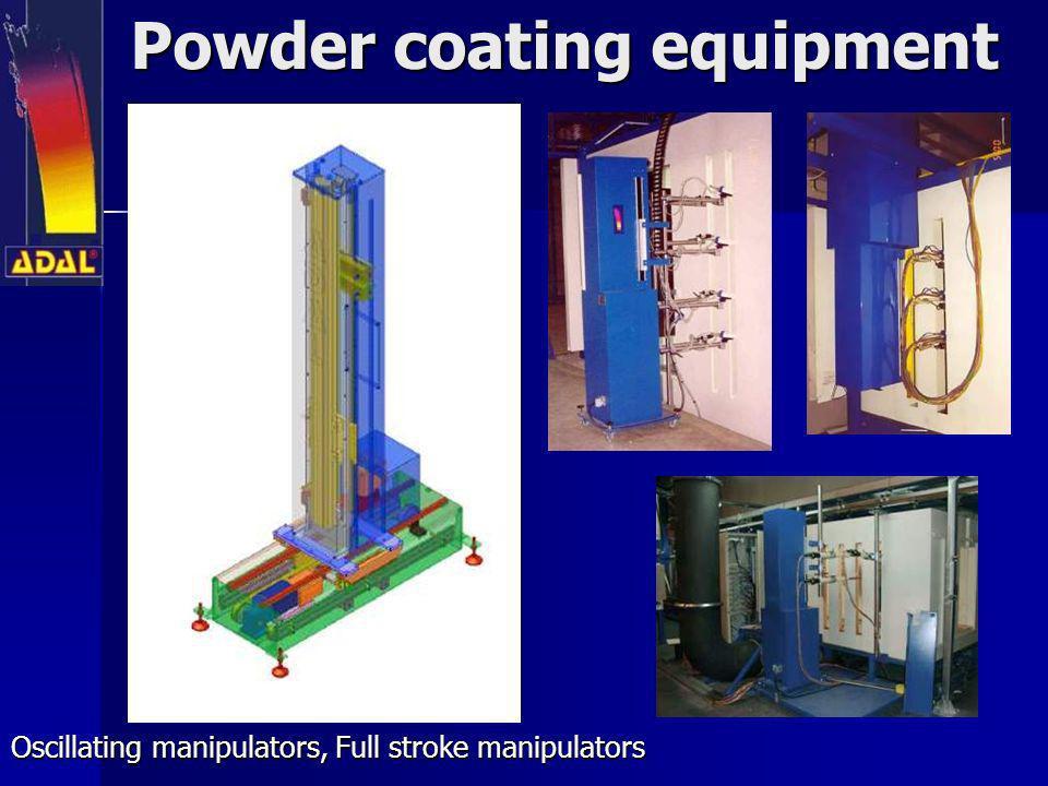 Powder coating equipment Oscillating manipulators, Full stroke manipulators