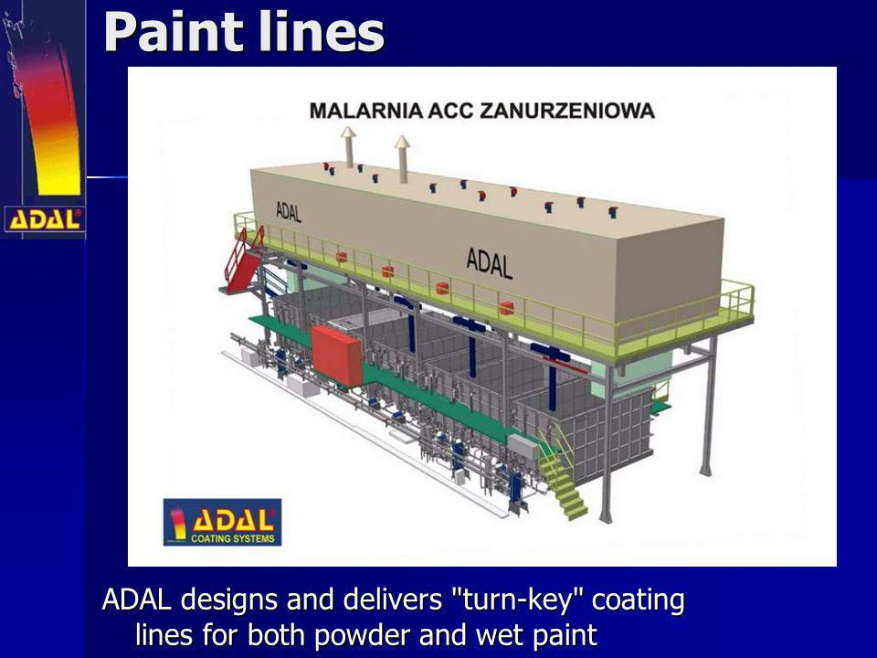 Paint lines ADAL designs and delivers