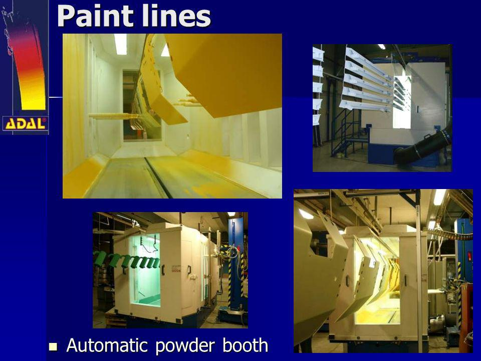 Paint lines Automatic powder booth Automatic powder booth