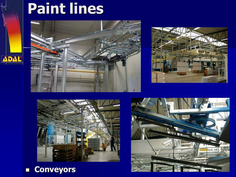 Paint lines Conveyors Conveyors