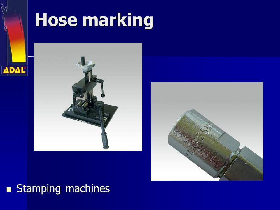 Hose marking Stamping machines Stamping machines