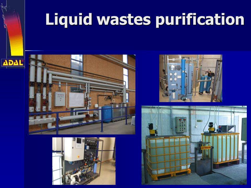 Liquid wastes purification