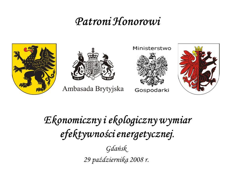 Patroni Honorowi Ekonomiczny i ekologiczny wymiar efektywności energetycznej. Gdańsk 29 października 2008 r.
