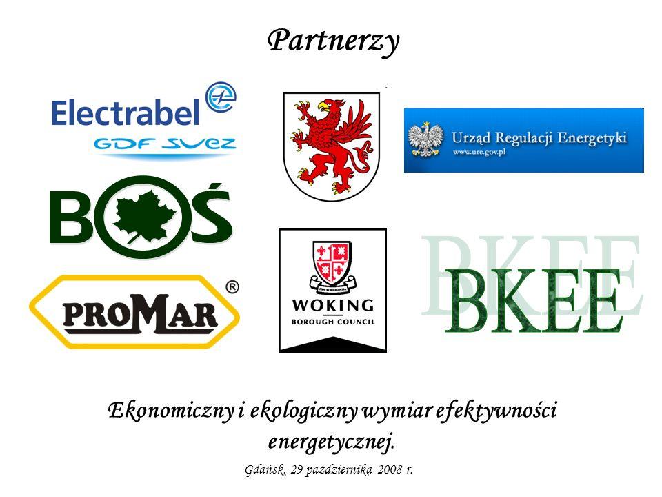 Partnerzy Ekonomiczny i ekologiczny wymiar efektywności energetycznej. Gdańsk, 29 października 2008 r.